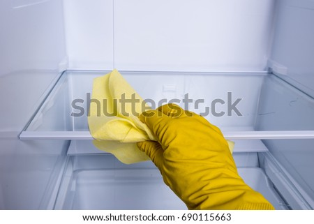 Hand cleaning refrigerator. #690115663