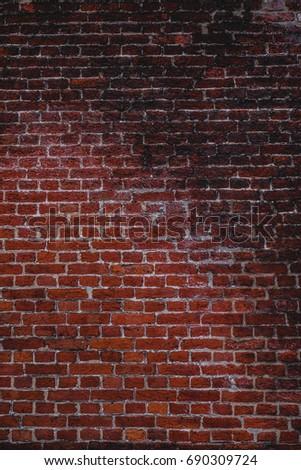 Natural red bricks wall #690309724