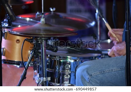 Lifted Cymbal on Drum Set #690449857