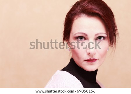 portrait  of middle age  woman. #69058156