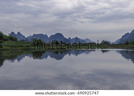 GuiLin river view #690925747