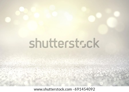 Vintage glitter lights bokeh abstract background holiday. defocused. #691454092