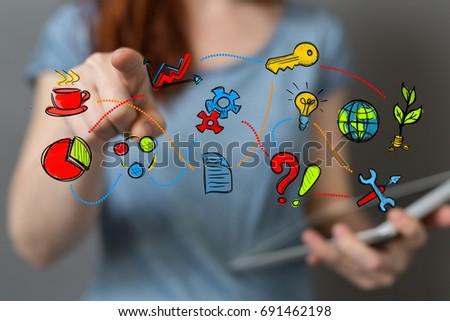 business concept #691462198