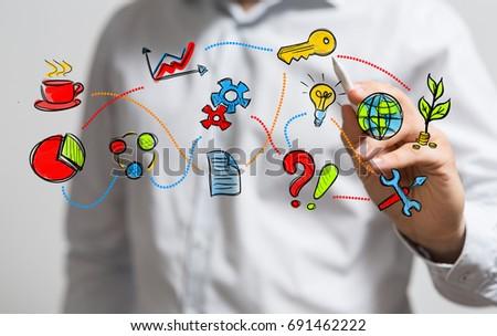 business concept #691462222