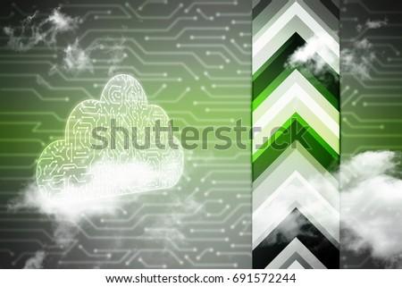 2d rendering Cloud computing, Cloud Computing Concept #691572244