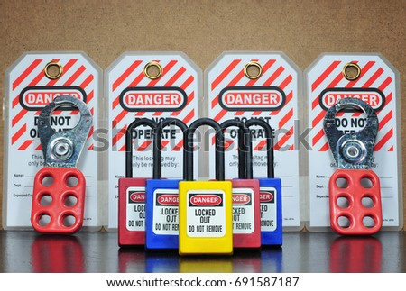 Lock out & Tag out , Lockout station,machine - specific lockout devices and lockout point #691587187