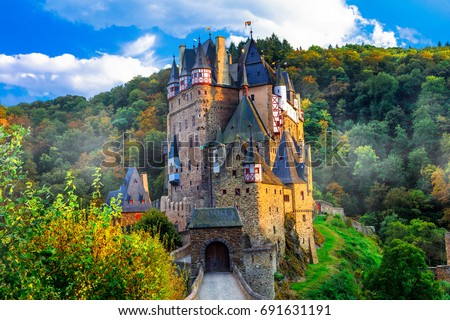 Burg Eltz - one of the most beautiful castles of Europe. Germany #691631191