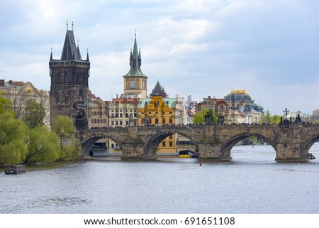Most popular view of the main sightseeings in Prague #691651108