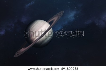 Saturn. Science fiction space wallpaper, incredibly beautiful planets, galaxies, dark and cold beauty of endless universe. Elements of this image furnished by NASA
