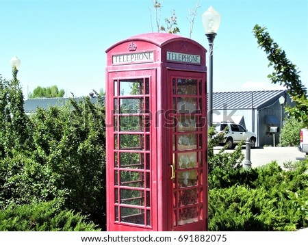 Early 1900's vintage phone booth #691882075