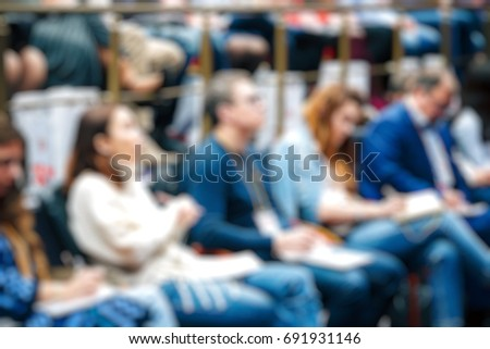 Blurred background business Meeting Conference Training Learning Coaching Concept. #691931146