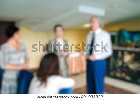 Blurred background business Meeting Conference Training Learning Coaching Concept. #691931332