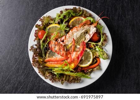 Lobster 's fresh salad  #691975897