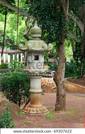Japanese Lantern in Kepaniwai Park and Heritage Gardens #69207622