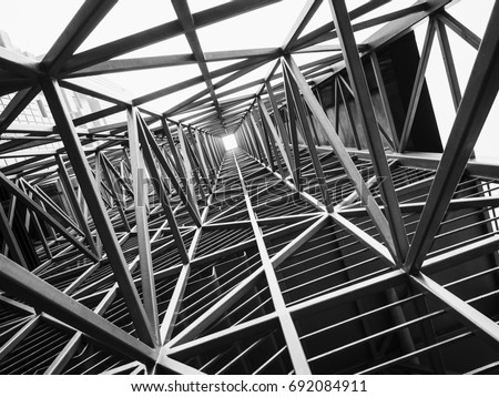 Steel structure Architecture construction Abstract Background Royalty-Free Stock Photo #692084911