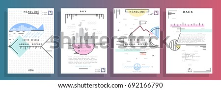 Creative presentation templates. Flat design vector infographic elements for slides, annual report, brochure, flyers, web design and banner #692166790