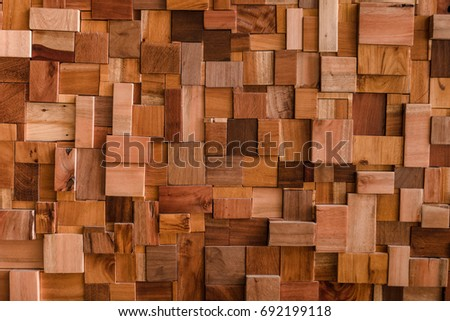 File textured of wood cube background use for multipurpose shape and textured wooden backdrop