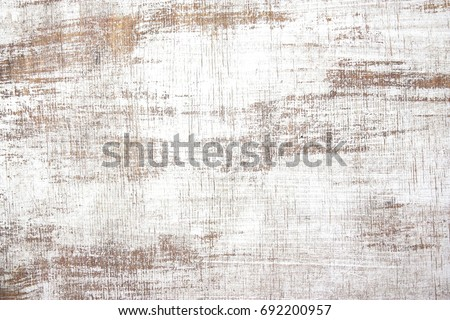 old wood texture distressed grunge background, scratched white paint on planks of wood wall Royalty-Free Stock Photo #692200957