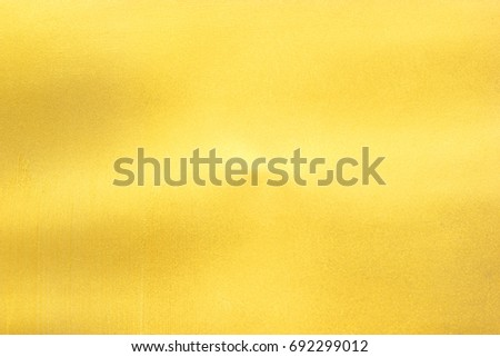 Shiny yellow leaf gold foil texture background #692299012
