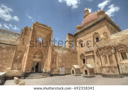 Ishak Pasha Palace - a semi-ruined palace in eastern Turkey #692318341