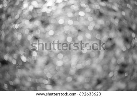 Abstract circles bokeh background, black and white #692633620