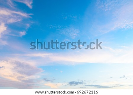 Sky background, blue sky with cloud #692672116