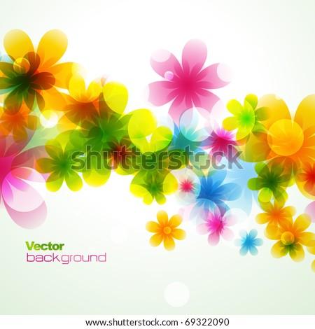 vector beautiful flower background art