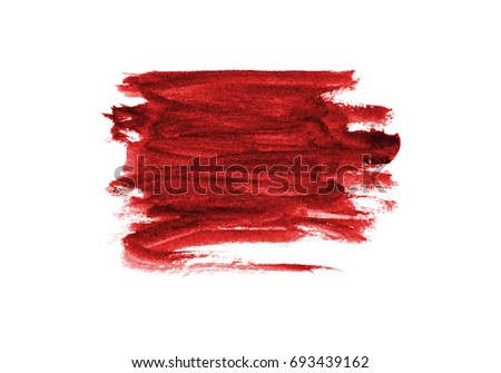 Red of color strokes on white background with clipping path #693439162