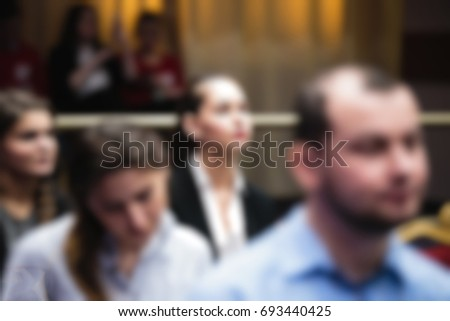 Blur of business Conference and Presentation in the conference hall. #693440425