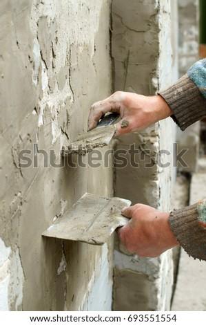Plasterer plaster wall plaster #693551554