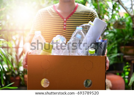 garbage for recycling concept reuse and recycle  Royalty-Free Stock Photo #693789520