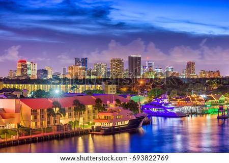 Fort Lauderdale, Florida, USA skyline. #693822769