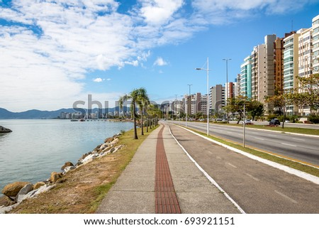 Beira Mar Avenue at Florianopolis city - Florianopolis, Santa Catarina, Brazil #693921151