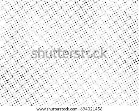 Grunge halftone black and white. Abstract black and white texture. Vintage grayscale monochrome #694021456