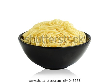 noodles in bowl  isolated on white background. This has clipping path.                             #694043773
