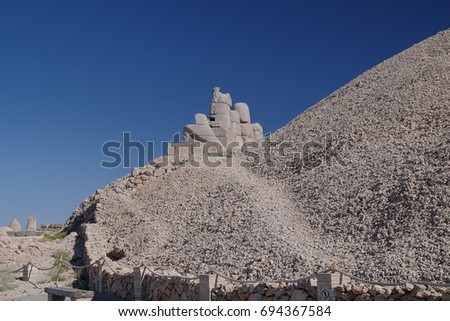 Mount Nemrut - UNESCO World Heritage site in southeastern Turkey #694367584