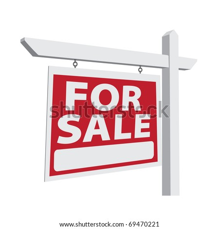 For Sale Vector Real Estate Sign Ready For Your Own Message. #69470221