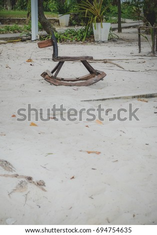 bench in beach #694754635