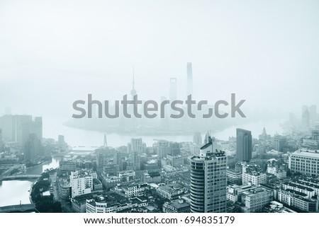 shanghai skyline #694835179