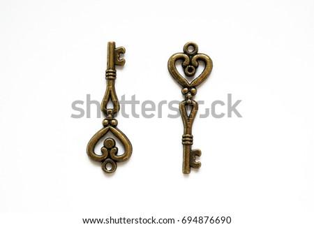 Vintage small beautiful keys #694876690