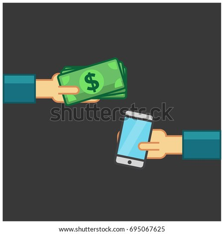 Buying A Smart Phone With Dollars in Cash #695067625