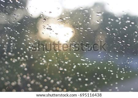 selective focus of water drop #695116438