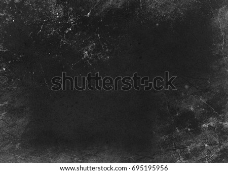 Black abstract shabby textured background texture of old paper. Blank background design banner effect scratches. #695195956