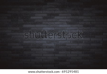 Black brick wall for background  #695295481