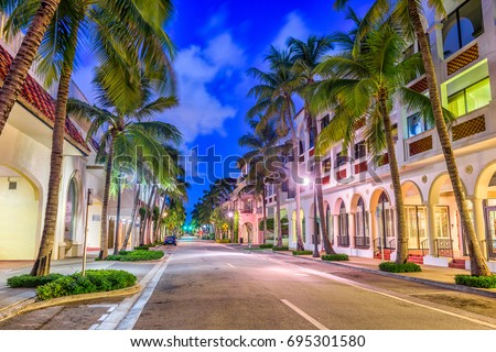 Palm Beach, Florida, USA at Worth Ave. #695301580
