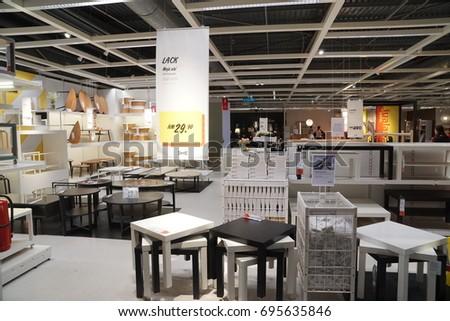 Damansara, Malaysia - August 14, 2017: Interior shot of IKEA Damansara Malaysia during member preview sale.  #695635846
