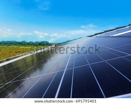 Solar Panel Photovoltaic installation on a Roof #695795401