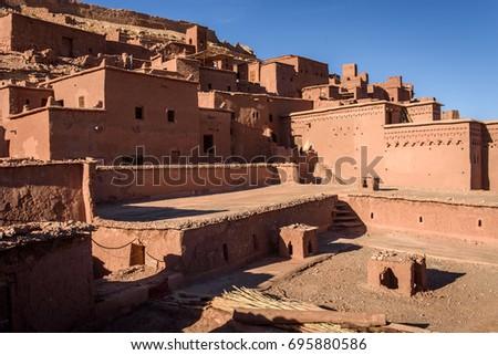 Kasbah Ait Ben Haddou, Morocco, Africa. UNESCO World Heritage Site. #695880586