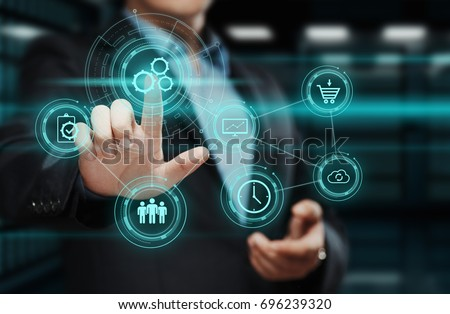 Automation Software Technology Process System Business concept. #696239320
