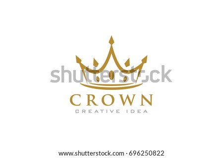 Creative Crown Concept Logo Design Template